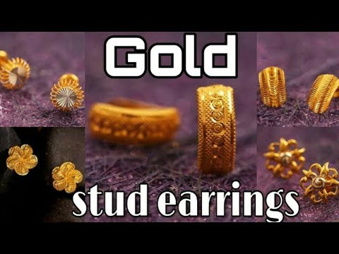 Latest Stud Earrings for women | Latest Light Weight Ear Gold Stud Designs