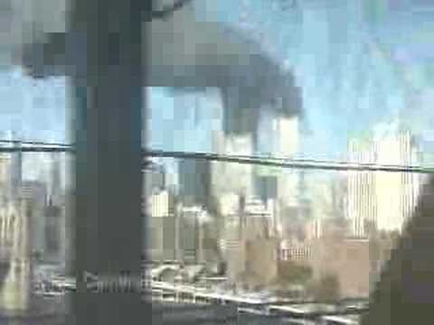 Video out a subway window heading in to NY - as WTC burns