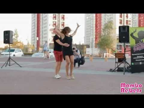 Elena Burilova, Alexander Sheludkov salsa dancing European district