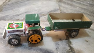 How to make A Tractor  At home matchbox Tractor play & Test  Tractor