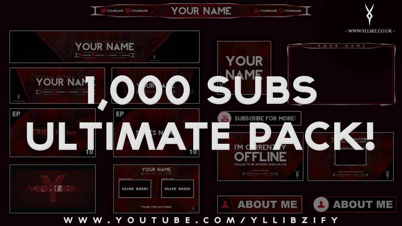 Youtube Photoshop Template  youtube one channel template download