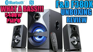 F&D F380X Bluetooth 2.1 Speaker Unboxing And Review