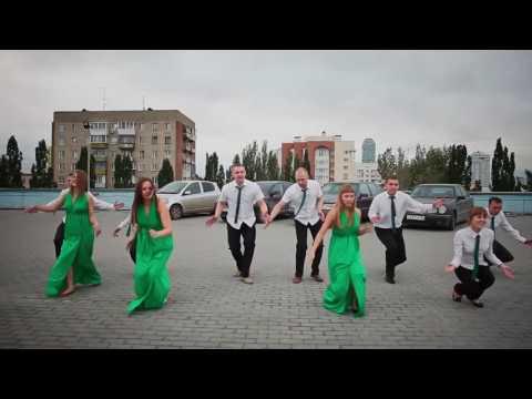 Видео, Ребята зажигают Самый крутой корпоративный танец  флешмоб online video cutter com