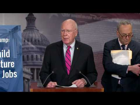 Senator Leahy Speaks On Importance of Senate Democrats' Infrastructure Plan
