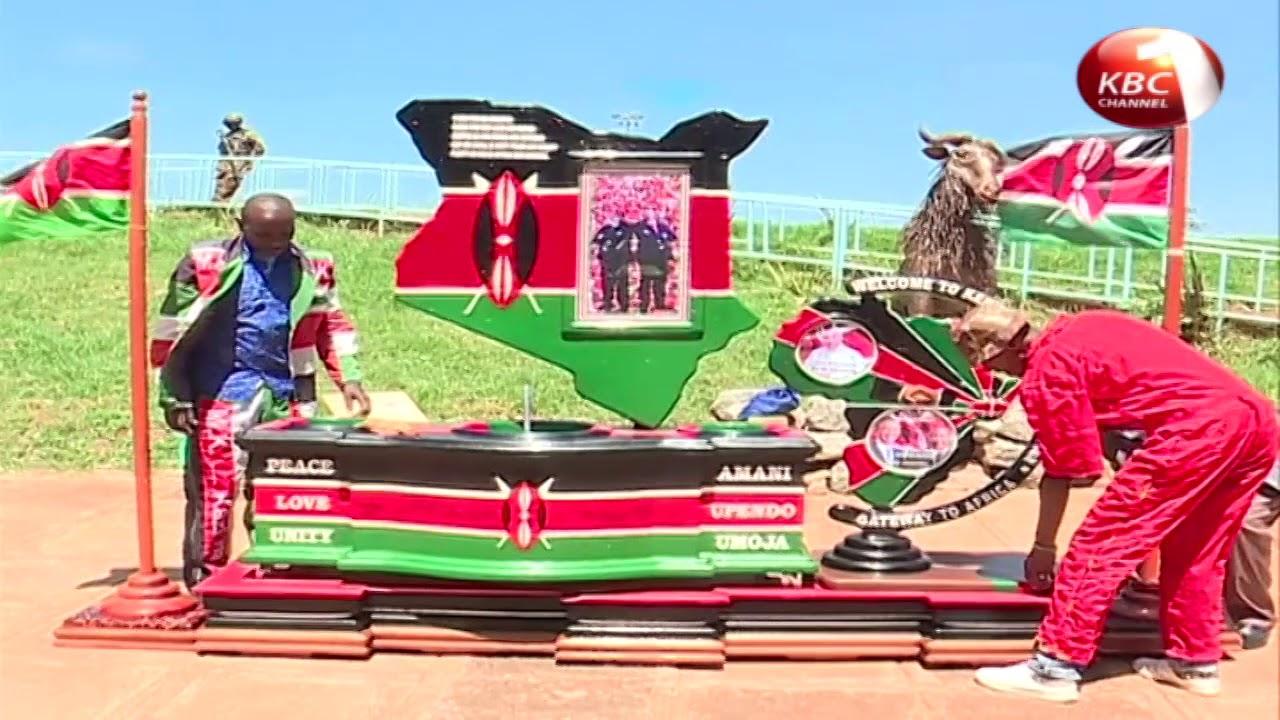 Thousands of Kenyans braved the hot Nairobi weather and gathered at Kasarani