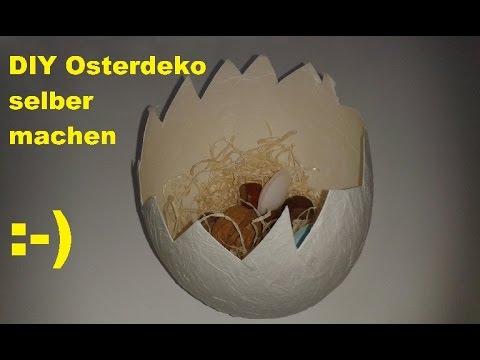 DIY Schöne Osterei Deko Schalen einfach selber machen / Osterdeko ...