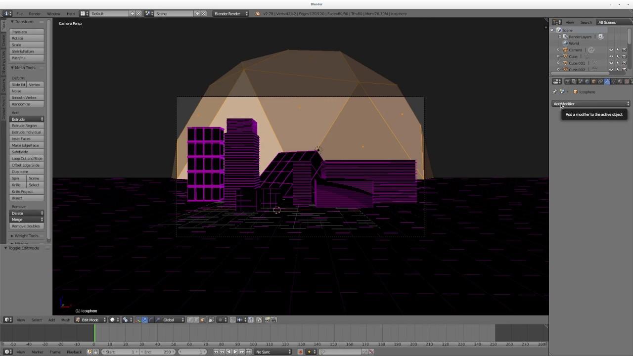 Future Grid City Blender 3D - YouTube