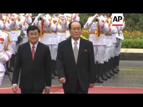 NKorea's parliamentary leader Kim Yong Nam meets Vietnamese president