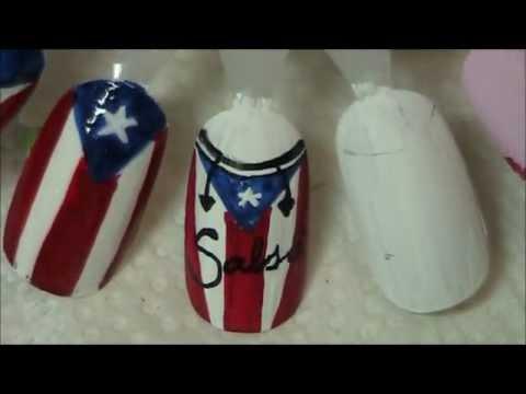 Puerto Rican Conga Nail Design Youtube