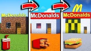 McDONALD de NOOB vs McDONALD de PRO DANS MINECRAFT ! 🍔🍟