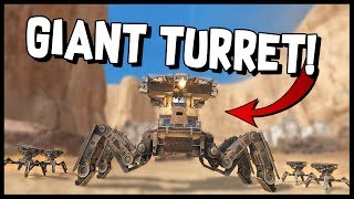 Crossout - THE GIANT TURRET! - Crossout Gameplay