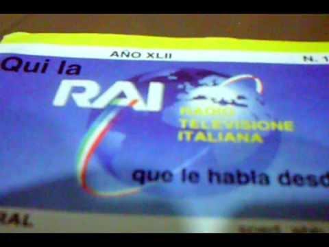 RAI  -  RADIO  Y  TELEVISION  ITALIANA  -   Señal de Identificacion   ( 1 985 )