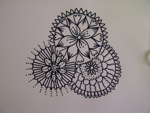 Zentangle Zeichnung. Mandala zeichnen.  Simple doodle design