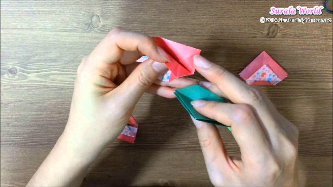 Origami - Christmas Wreath / 종이접기 - 크리스마스 리스 - YouTube - photo#7