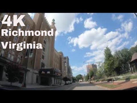 [4K] Driving On Downtown Richmond, Virginia