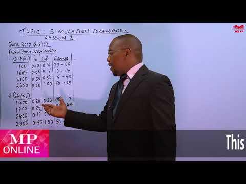 CPA - QUANTITATIVE ANALYSIS - SIMULATION TECHNIQUES - LESSON 2