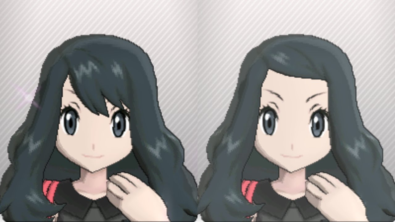 Pokémon X JPN Coiffure Clips Salon Black Hair Please YouTube