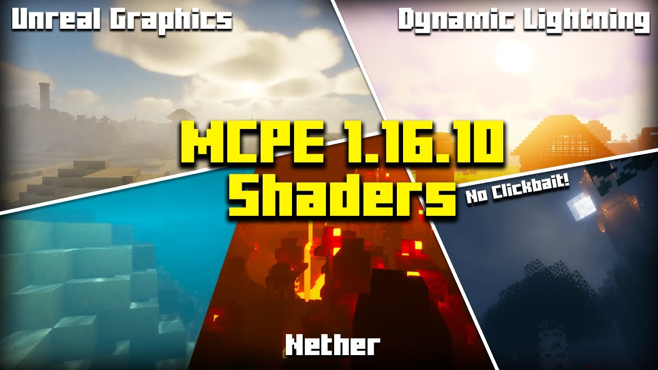 Mcpe 1 16 20 Top 5 Best Working Shaders Top 5 Best Shaders Minecraft Pe 1 16 20 2020 Youtube