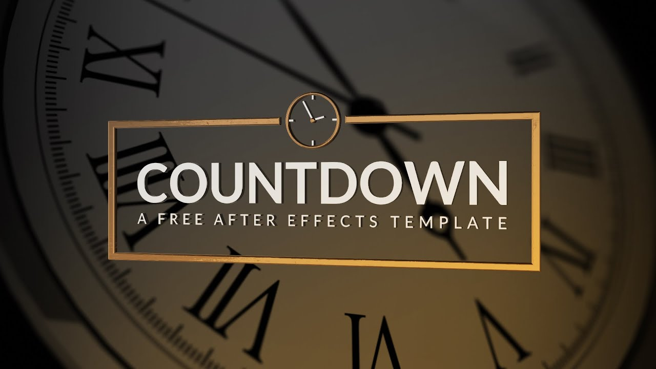 countdown a free after effects template youtube