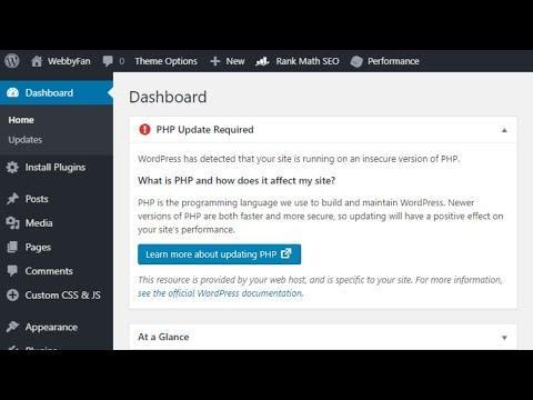 WordPress requires php