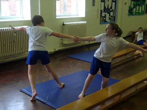 Primary school balance and counterbalance routine 1