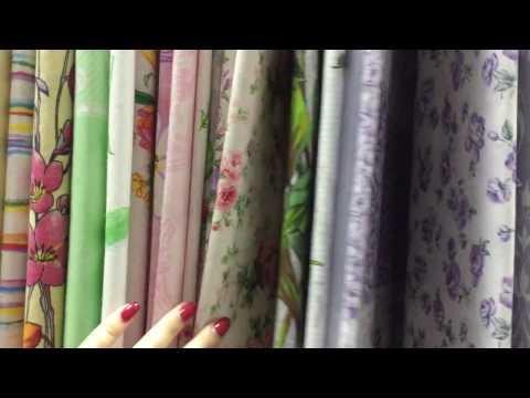 Текстильная лавка ткани поплин