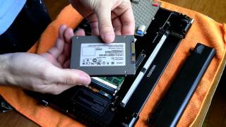 Tutorial: How to add or replace an SSD in a Toshiba R830 Portege Laptop, using 9.5mm SSD (or 7mm)