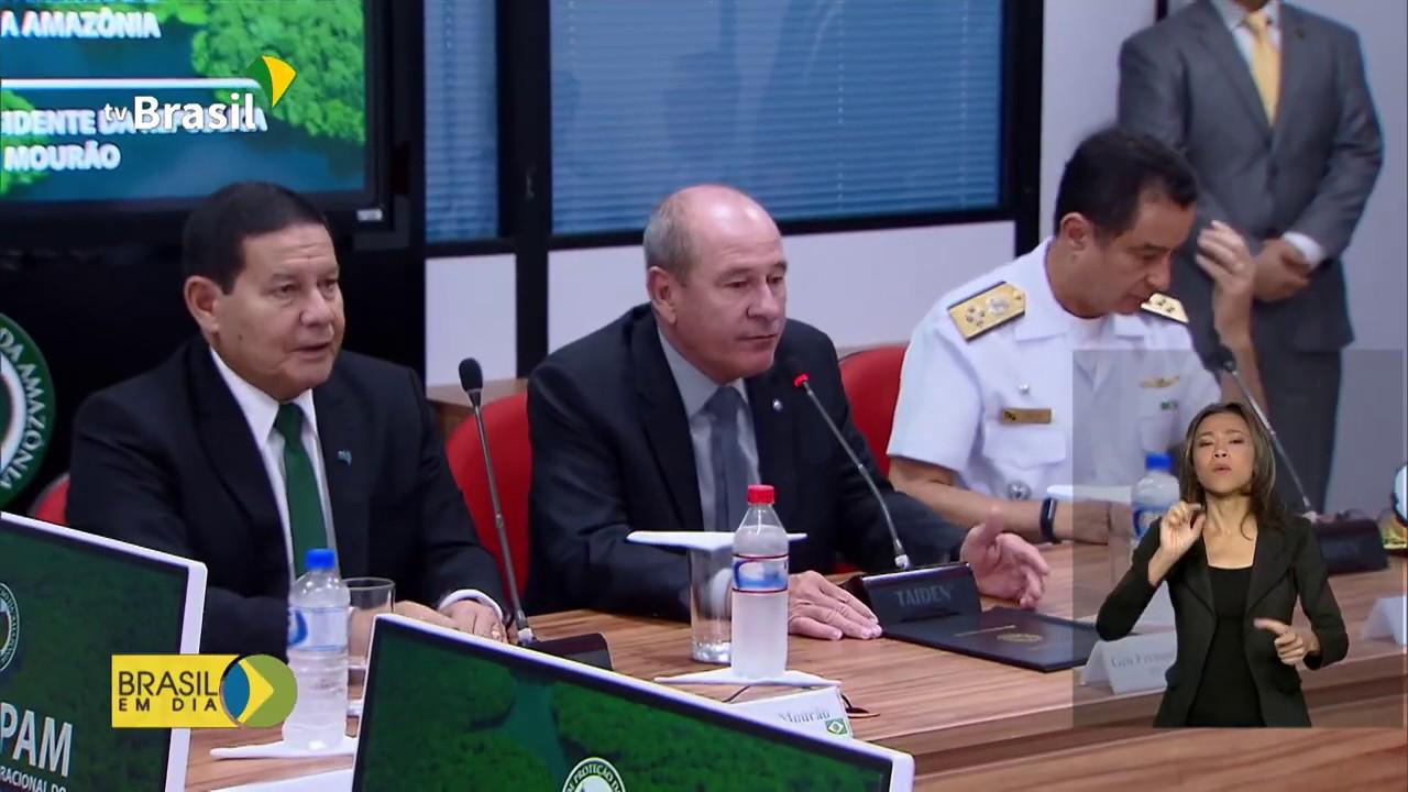 Vice-presidente conhece sistema que monitora a Amazônia