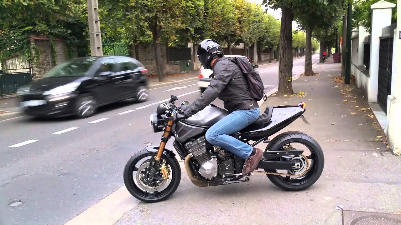 suzuki bandit 1200 café-racerraspo custom garage - youtube