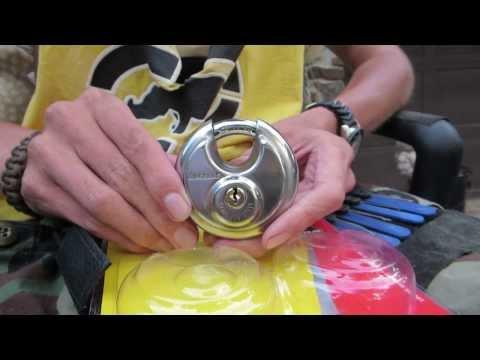 Black Dog 55170 Round Disc Padlock Shrouded (70mm) Picked Open