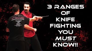 Seminar Clip: 3 Ranges of Knife Fighting Explained