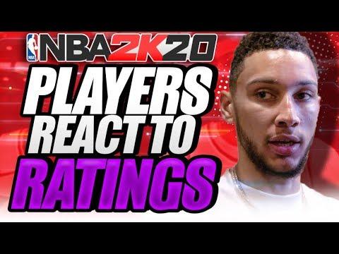 NBA PLAYERS REACT TO THEIR NBA 2K20 RATING!