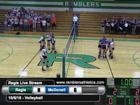Regis vs. McDonell - Volleyball - 10/6/2016