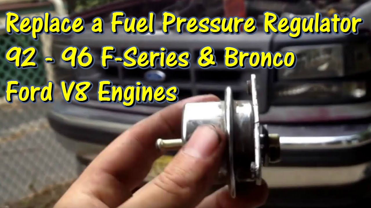 small resolution of how to replace a fuel pressure regulator 92 to 96 f150 bronco gettinjunkdone youtube