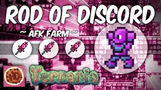 Terraria AFK Rod of Discord & Mimic Farm (1.3 tested & works)