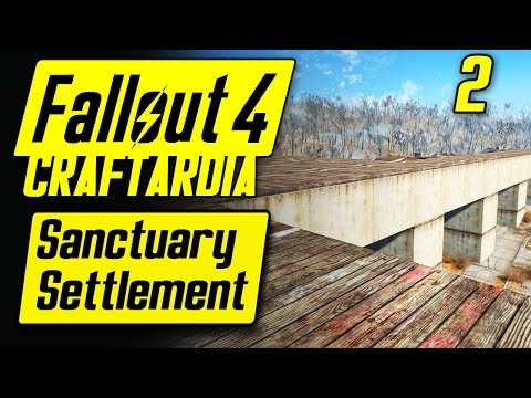 Fallout 4 Sanctuary Settlement #2 - Base Building Timelapse - Fallout 4 Settlement Building [PC]