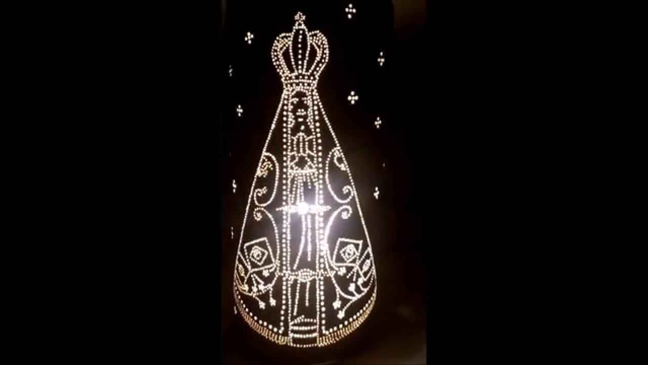 Santo Nosso Fotos Nossa Senhora Aparecida: Luminária Abajur Em PVC Nossa Senhora Aparecida