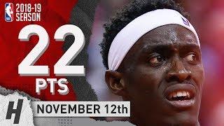 Pascal Siakam Full Highlights Raptors vs Pelicans 2018.11.12 - 22 Pts, 3 Reb, 3 Blocks!