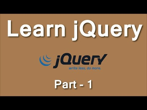 Learn jQuery from Scratch to Advanced Level Part-1