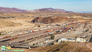 MUST SEE! High Above BNSF's Barstow Yard (HD 60fps)