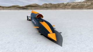 Bloodhound SSC 1000 mph rocket car, land speed record attempt thumbnail