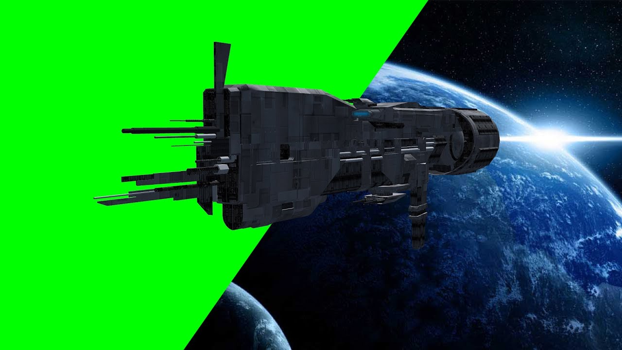 Spaceship U.S.S. Sulaco Fly By