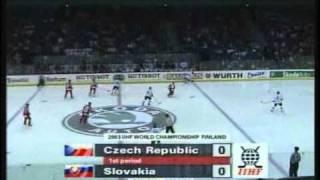 Slovensko vs Cesko ms v hokeji 2003 súboj o bronz