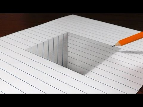 Thumbnail: How to Draw a Square Hole in Line Paper - 3D Trick Art