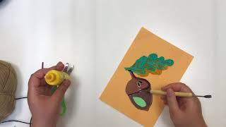 Уроки детского творчества - Жёлудь из ниток