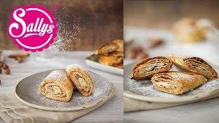 Last Minute Börek mit Nussfüllung / knusprige & softe Variante