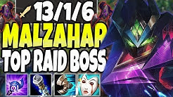 MALZAHAR TOP LANE SEASON 10 RAID BOSS 🔥  MALZAHAR IS BEYOND BROKEN 🔥 LoL Malzahar build s10 Gameplay
