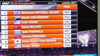 Ramil Guliyev 200m men final