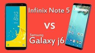 infinix note 5 vs samsung galaxy j6 | Detailed Comparison