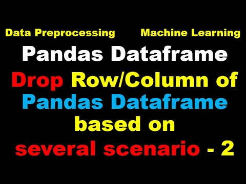 Python for Machine Learning - Part 7 - Drop Rows and Columns of a Pandas Dataset2